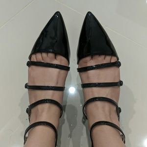 Zara strappy pointed toe flats